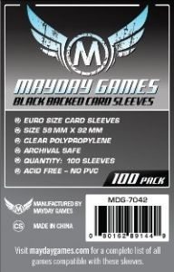 Mayday 59mm x 92mm - Black Backed Card Sleeves